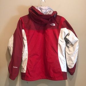The North Face Jackets & Coats - North Face Hyvent Coat  Red Maroon White Med